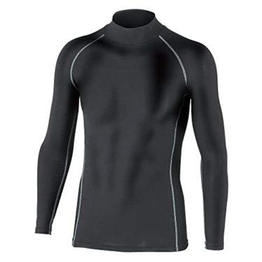 おたふく手袋 ボディータフネス 保温 コンプレッション パワーストレッチ 長袖 ハイネックシャツ JW-170 ブラック Mをサポート