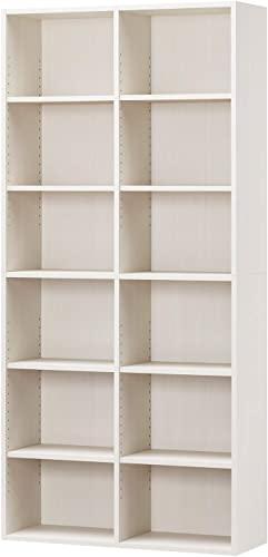 手元に置いておきたい白井産業ラック 本棚 ホワイト 白木目 約 幅90 奥行30 高さ180 cm (AMZ-1890WH)