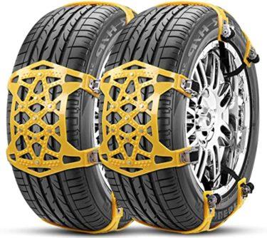 タイヤチェーン 非金属 ジャッキアップ不要 165-265mm対応対策